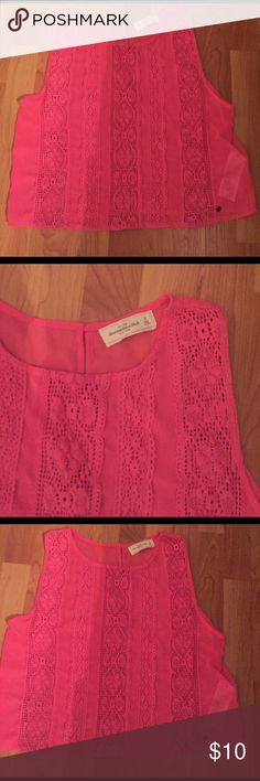 Abercrombie pink small top Abercrombie pink top small Abercrombie & Fitch Tops Tank Tops