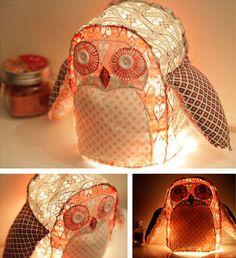 DIY: Owl Lamp by MyOwlBarn, via Flickr