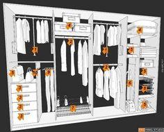 27 Ideas for bedroom furniture layout closet space Wardrobe Design Bedroom, Master Bedroom Closet, Walk In Wardrobe, Bedroom Wardrobe, Walk In Closet Design, Closet Designs, Bedroom Cupboard Designs, Bedroom Cupboards, Diy Custom Closet