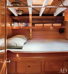 Gorgeous 65-foot wood-hulled schooner. Click here to read the article.     Images: Michael Moran/Architectural Digest