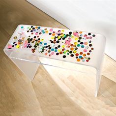 By artist Markus Linnenbrink - acrylic console table with resin and pigment.
