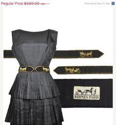 SALE . 50 OFF . Vintage HERMES Belt . Horse Logo by recollectvint, $250.00
