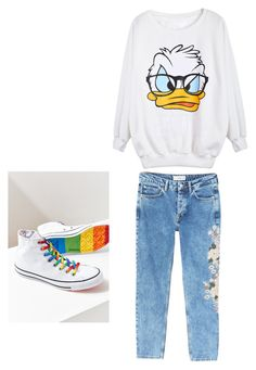 """""""90's Back"""" by cacagasp on Polyvore featuring moda, MANGO e Converse"""