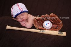 Baby Baseball hat newborn up to adult Photo Prop team colors crochet Sports Hat add a flower for a girl