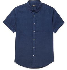 <a href='http://www.mrporter.com/mens/Designers/Theory'>Theory</a>'s 'Coppolo' shirt is crafted from linen dyed a rich indigo hue. Incredibly soft and lightweight, this casual piece is absent of detailing for a clean-cut look. Wear this airy style on summer days with shorts and leather sandals.