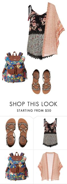 """""""Running away"""" by yvonne-tyler ❤ liked on Polyvore featuring Billabong, River Island, Sakroots and Mes Demoiselles..."""