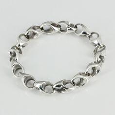 """MANSONDAVID 925 Sterling Silver Man Woman Chain Link Bracelet 8"""" #MANSONDAVID #Chain"""