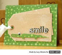 Lucy Abrams uses a Hero Arts digital cut file from the Silhouette store to add a fun shape to her card. #HeroArts