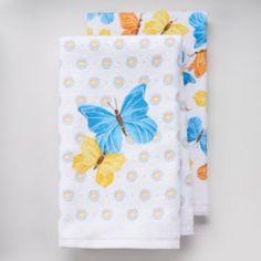 Harvest 2-pc. Butterflies Kitchen Towel Set