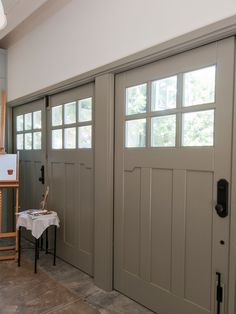 Carriage Doors are so beautiful and versatile! They will look great in pretty much any project. From residential to commercial, from a garage to a studio! Sliding Garage Doors, Carriage House Garage Doors, Custom Garage Doors, Wooden Garage Doors, Carriage Doors, Custom Garages, House Doors, Entry Doors, Door Design