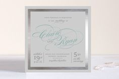 Edged Conservatory Foil-Pressed Wedding Invitations by Snow and Ivy at minted.com
