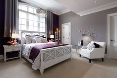 74 Best Grey Purple Inspiration Images Purple Rooms Bed Room