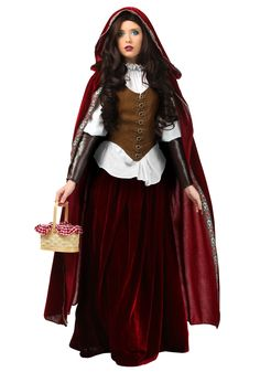 Live out your favorite childhood fairy tale in this exclusive Deluxe Red Riding Hood Plus Size Costume.
