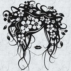 Spring Flowers Hair Dresser Vinyl Wall Graphic Decal