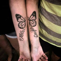 #Mother #Daughter #Tattoo #Butterfly