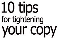 10 tips for tightening your copy