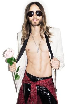 Rock star: Jared Leto is celebrating his Oscars success by touring with his band Thirty Second to Mars (Picture: Terry Richardson)