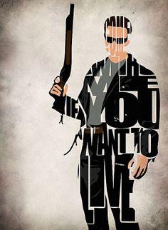 Terminator Arnold Schwarzenegger Poster