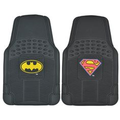 Batman V Superman Dawn of Justice Floor Mats for Car & SUV - 2 Piece Set Auto Accessory