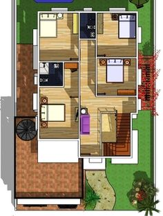 Modern 2 Storey w/ Roofdeck - House Designer and Builder 2 Storey House Design, Small House Design, Construction Contract, Low End, Small Houses, Exterior Design, House Plans, House Ideas, Floor Plans