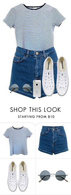 """""""Sin título #1882"""" by mavii1 ❤ liked on Polyvore featuring Pull&Bear and Converse"""