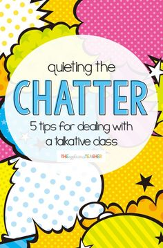 Quieting the Chatter: 5 Tips for Dealing with A Chatty Class 5 insightful tips for taking control of your chatty class. This post is AWESOME and includes free tools for all the suggestions! Classroom Management Strategies, Behaviour Management, Teaching Strategies, Teaching Tips, New Teachers, Elementary Teacher, Elementary Schools, High Schools, Student Behavior
