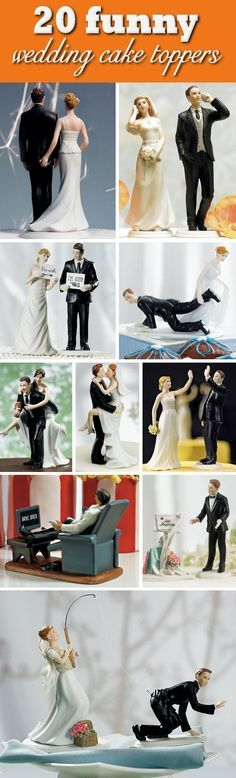 20 Humorous & Funny Wedding Cake Toppers that will have your guests laughing!