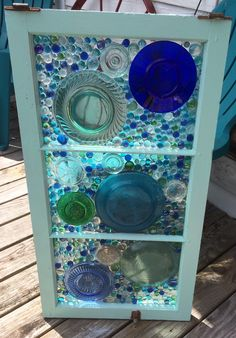 A mosaic work in progress, using a transom window from our historic home. Mosaic Projects, Stained Glass Projects, Stained Glass Patterns, Sea Glass Art, Glass Wall Art, Stained Glass Art, Mosaic Art, Mosaic Glass, Fused Glass