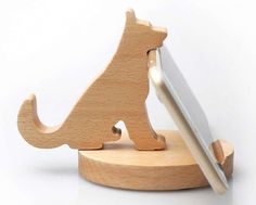 Wooden Cat Cell Phone iPad Stand Holder - Iphone Holder - Ideas of Iphone Holder - Wooden Cat Cell Phone iPad Stand Holder Desk Phone Holder, Iphone Holder, Iphone Stand, Cell Phone Stand, Iphone Phone, Wooden Cat, Wooden Toys, Wood Projects, Woodworking Projects