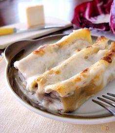 Cannelloni al radicchio e ricotta http://blog.giallozafferano.it/graficareincucina/cannelloni-al-radicchio-e-ricotta/