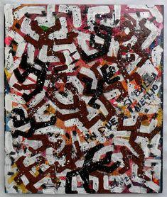 """G.A.Zanussi, """"in due si balla meglio"""", tecnica mista su tela, 60x50, 2017"""