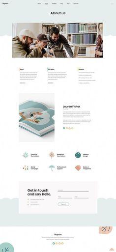 Bryson is perfect WordPress theme for every illustrator, designer, freelancer and artist. News Web Design, Blog Design, Page Design, Ui Design Mobile, App Ui Design, Portfolio Site, Portfolio Design, Wordpress Theme, Website Design Layout