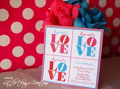 Printable- All you need is LOVE Party Collection- Invitations by Fara Party Design via Etsy