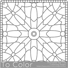 This Is A Geometric Mandala Pattern Printable Coloring Page For People Who Are Looking Change From Mandalas