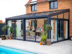 Garden Room Extensions, House Extensions, Outdoor Rooms, Outdoor Living, Outdoor Decor, House Extension Design, Sunroom Decorating, Modern Farmhouse Exterior, Backyard Patio Designs