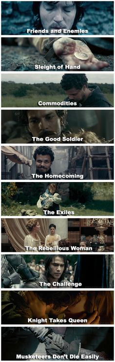 The Musketeers episode titles in stills