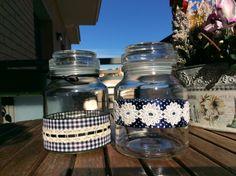 Tarros  de cristal de cafe instantáneo reciclaos para nuevos usos
