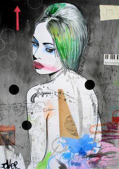 "Saatchi Online Artist: Loui Jover; Paper, 2013, Mixed Media ""retributions muse"""