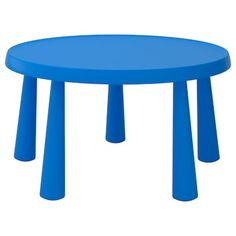 MAMMUT Children's table, indoor/outdoor blue, 33 The robust and lightweight MAMMUT series withstands the elements of weather and wild imaginative play. Perfect for the outdoors and easy to clean when it's time to move indoors.