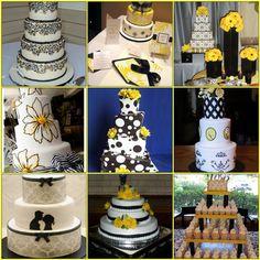 Google Image Result for http://www.herecomestheblog.com/wordpress/wp-content/uploads/2010/01/black-white-yellow-wedding-cakes.jpg