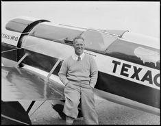 Frank Monroe Hawks with the Texaco 13 Travel-Air Mystery Ship at East Boston…