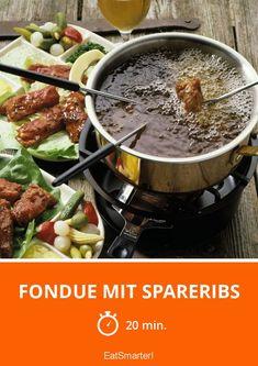 Fondue mit Spareribs - smarter - Zeit: 20 Min. | eatsmarter.de