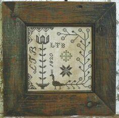 PINEBERRY LANE - Lydia Broome Sampler - Primitive Cross Stitch Sampler Pattern by Designer Wendy Stys-Van Eimeren