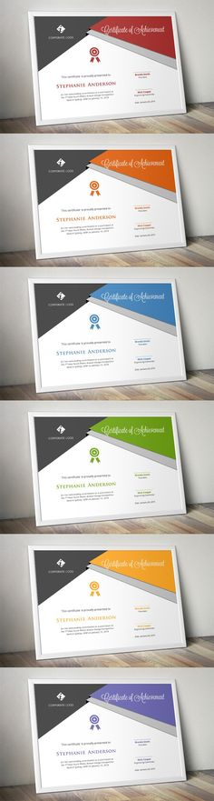 Script triangle certificate design. Stationery Templates. $5.00