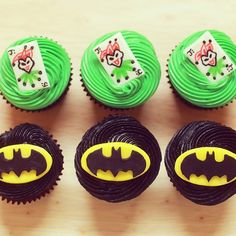 Here are the Batman Cupcakes we made on Nerdy Nummies :)