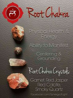 Each one of the seven chakras is a center of a specific kind of energy in the body. Reiki can be used to align the chakras or cleanse them. Chakra Raiz, Chakra Heilung, Chakra Crystals, Crown Chakra, Stones And Crystals, Chakra Mantra, Chakra Chart, Muladhara Chakra, Chakra Symbols