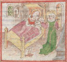 Legenden der Augsburger Heiligen Ulrich, Sintpert, Afra, Eustachius. Johannes von Indersdorf Augsburg, 1454 Cgm 751  Folio 45