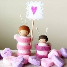 Valentine Bee Peg Dolls