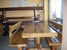 Κάντε click για μεγέθυνση Dining Table, Rustic, Interior, Tables, House, Furniture, Home Decor, Ideas, Country Primitive