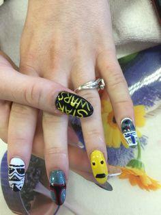 Star war nails art